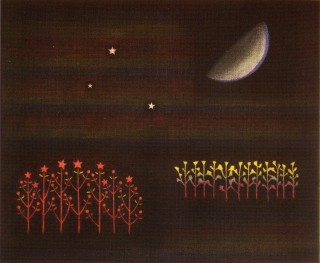 Product Image - Moon and flowers<BR>Year: 1981<BR>